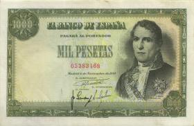 Spanien / Spain P.138 1000 Pesetas 1949 (3+)