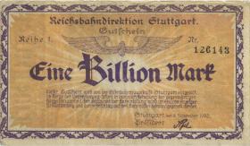 PS1379 Reichsbahn Stuttgart 1 Billion Mark 1923 (3)