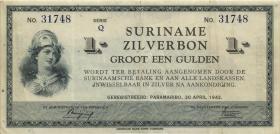 Surinam / Suriname P.105c 1 Gulden 1942 (3)