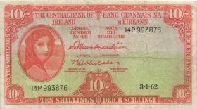 Irland / Ireland P.63a 10 Shillings 1962 (3)