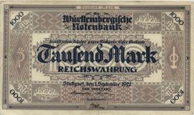 R-WTB 12a:1000 Mark 1922 (2-)