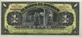 Mexiko / Mexico P.S304b 1 Peso (1914) Banco de Hidalgo (1)