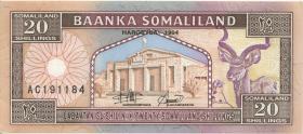Somaliland P.02-03 20 Shillings 1994 (1)