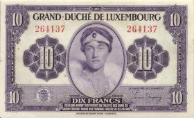 Luxemburg / Luxembourg P.44a 10 Francs (1944) (2)