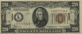 Hawai P.41a 20 Dollar 1934A (3+)