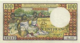 Madagaskar P.57 100 Francs = 20 Ariary (1966) (1)