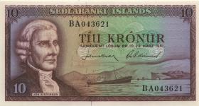 Island / Iceland P.38b 10 Kronen 1957 (1)