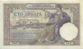 Jugoslawien / Yugoslavia P.027a 100 Dinara 1929 (2)