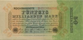 R.116a: 50 Mrd. Mark 1923 Reichsdruck (2) aus Bündel