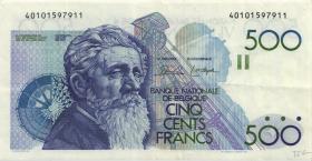 Belgien / Belgium P.143 500 Francs (1982-98) (3)