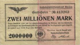 PS1133 Reichsbahn Breslau 2 Millionen Mark 1923 (3)