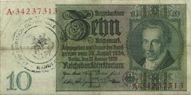 R.173d: 10 Reichsmark 1929 Kriegsdruck (3)