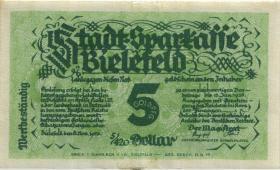 Bielefeld GP.46 5 Goldpfennig 1923 Leinen (1/1-)