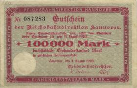 PS1251 Reichsbahn Hannover 100.000 Mark 1923 (3)