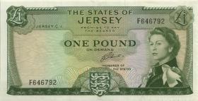 Jersey P.08b 1 Pound (1963) Serie F (2)