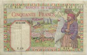 Algerien / Algeria P.084 50 Francs 1938 (3)