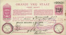 Südafrika / South Africa Orange Free State P.S686 12 Shillings / 6 Pence 1900 (3)