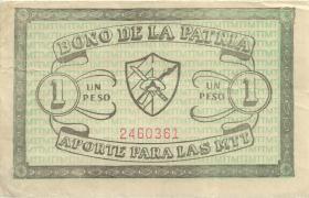 Kuba / Cuba Guerilla Banknoten 1 Peso Bono De La Patria (3)