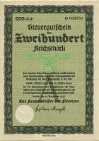 Steuergutschein 200 Reichsmark 1937 (1943) (1)