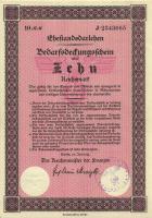 Ehestandsdarlehen 10 Reichsmark 1933 (1) mit Stempel