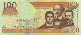 Dom. Republik/Dominican Republic P.177c 100 Pesos Oro 2010 (1)