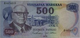 Finnland / Finland P.110b 500 Markkaa 1975 (3)