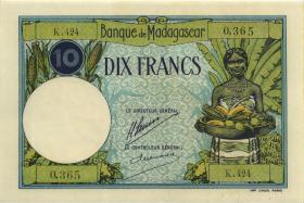 Madagaskar P.36 10 Francs (1937-1947) (1)