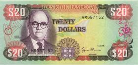 Jamaika / Jamaica P.72e 20 Dollars 1995 (1)