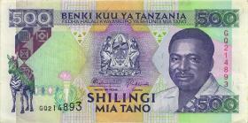 Tansania / Tanzania P.26a 500 Shilingi (1993) (3+)