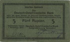 R.921c: Deutsch-Ostafrika 5 Rupien 1915 D (3+)