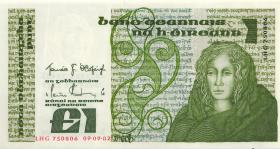 Irland / Ireland P.70c 1 Pound 1982 (1)