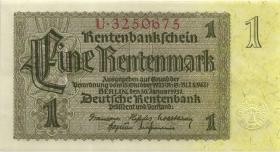 R.166a: 1 Rentenmark 1937 Reichsdruck 7-stellig (2)