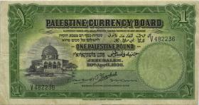Palästina / Palestine P.07c 1 Pound 1930 (3-)