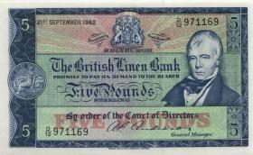 Schottland / Scotland, Bank of Scotland P.167a 5 Pounds 1962 (1)