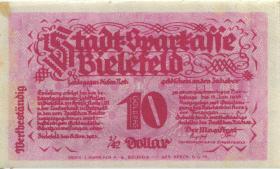 Bielefeld GP.47 10 Goldpfennig 1923 Leinen (1/1-)