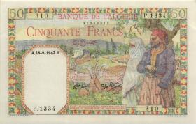 Algerien / Algeria P.087 50 Francs 18.9.1942 (1)