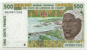 West-Afr.Staaten/West African States P.710Kf 500 Francs 1996 (2)