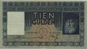 Niederlande / Netherlands P.049 10 Gulden 1938 (2)