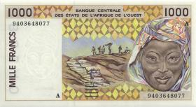 West-Afr.Staaten/West African States P.111Ad 1000 Francs 1994 (1)