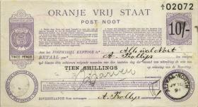 Südafrika / South Africa Orange Free State P.S685 10 Shillings 1900 (3)