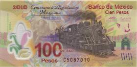 Mexiko / Mexico P. 128c 100 Pesos 2009 Polymer (1)