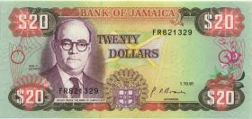 Jamaika / Jamaica P.72d 20 Dollars 1991 (1)