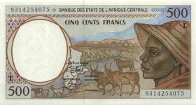 Zentral-Afrikanische-Staaten / Central African States P.401La 500 Francs 1993 Gabun  (1)