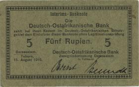 R.910g: Deutsch-Ostafrika 5 Rupien 1915 B (2)