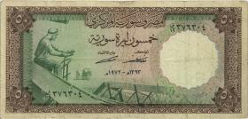 Syrien / Syria P.097b 50 Pounds 1973 (3-)