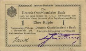 """R.916r: 1 Rupie 1915 B2. """"+) """"Reindl"""""""