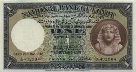 Ägypten / Egypt P.22d 1 Pound 26.5.1948 (1-)