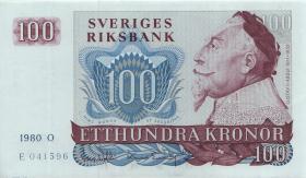 Schweden / Sweden P.54c 100 Kronen 1980 (1)