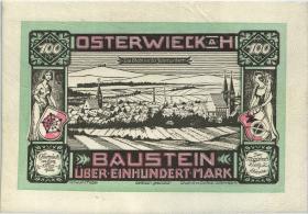 Osterwieck GR.360 100 Mark 1922 Ledergeld Baustein (1-)