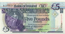 Nordirland / Northern Ireland, Bank of Ireland P.070b 5 Pounds 1992 (1)